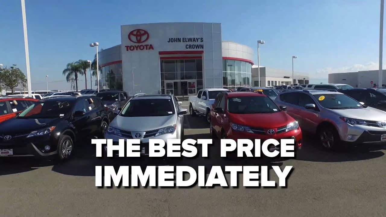 John Elway Toyota >> One Price Simple No Games At John Elway S Crown Toyota