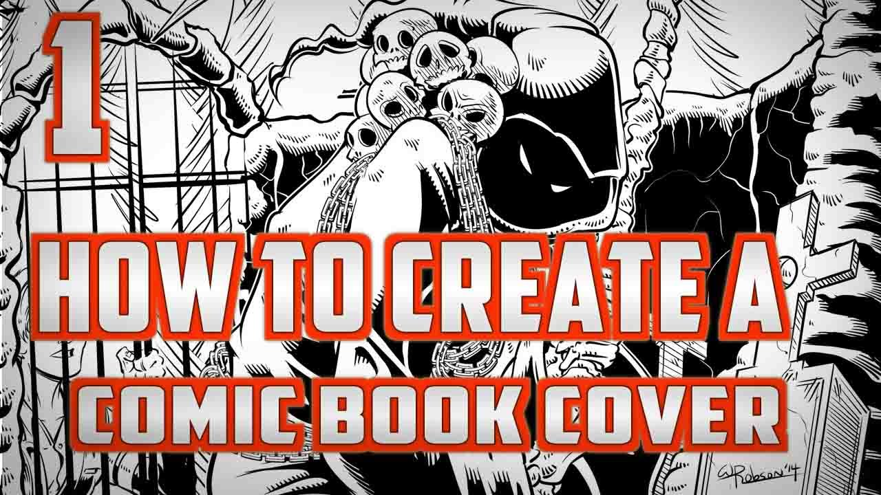 how to create a comic book cover part 1 youtube
