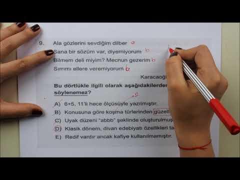 YKS Edebiyat 2018 Deneme Soruları – TYT...