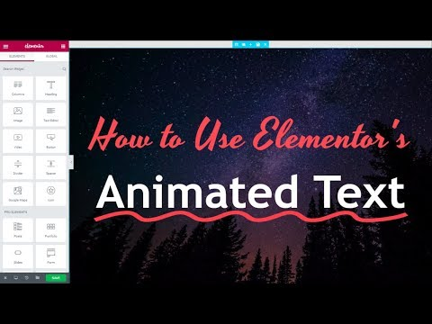 How to Use Animated Headline Text Widget in Elementor Pro - Elementor Pro Page Builder Tutorial - 동영상