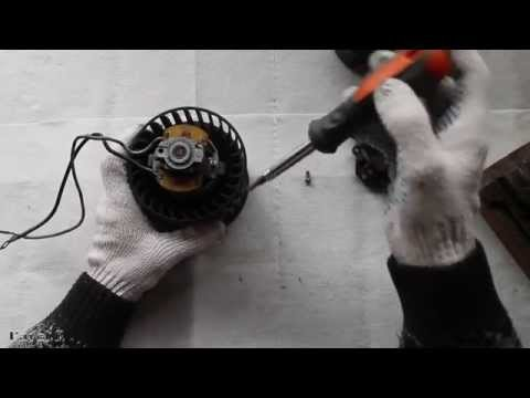 Замена щеток двигателя печки ваз 2110