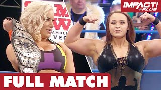 Jordynne Grace vs Taya Valkyrie: Knockouts Championship FULL MATCH | IMPACT Wrestling Full Matches
