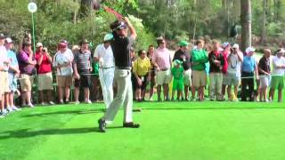Bubba Watson right handed and Rickie Fowler left handed!! Practice day August 2013