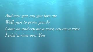 Cry me a river (with lyrics)