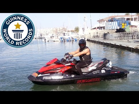 Longest open ocean journey by aquabike (jetski) - Guinness World Records