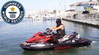 Longest open ocean journey by aquabike (jetski) - Guinness World Records