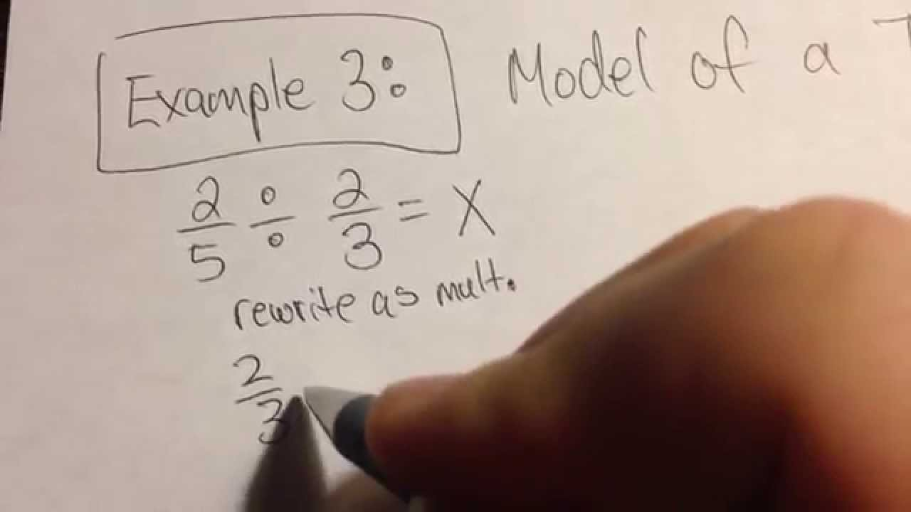 small resolution of dividing fractions using a tape diagram example 3 youtube 5th grade review strip diagram 5th grade