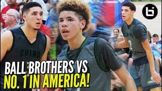 The Day Ball Bros Legend Was Born! Lonzo, Gelo, & Melo TAKE DOWN #1 Team In America!!