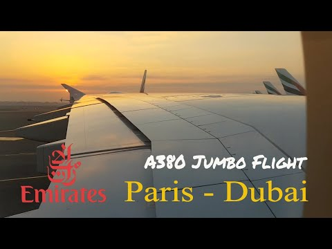 Emirates A380-800 Paris - Dubai EK 076 | Super Jumbo Jet Economy Class Flight Experience