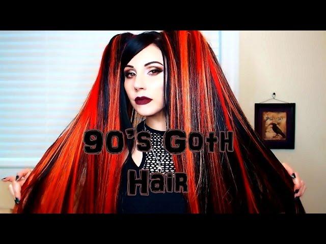 90s Goth Diy Hair Extensions Clipzui