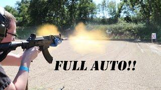 full auto bullpup shoot m16 ak47 tavor