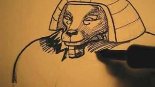 drawing ....Pharoah of Cyprus---Asmr---