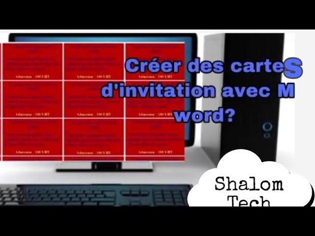cartes d invitation sur word