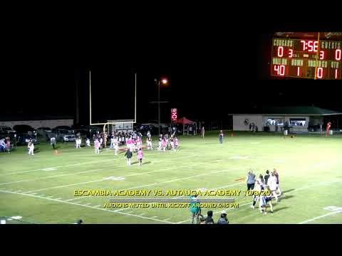 Escambia Academy vs. Autauga Academy Varsity Football 10/8/2020