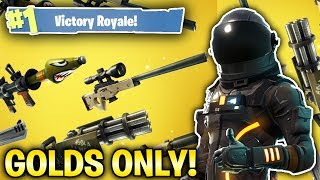LEGENDARY WEAPONS ONLY! *NEW* SOLID GOLD GAMEMODE! (Fortnite Battle Royale Livestream)