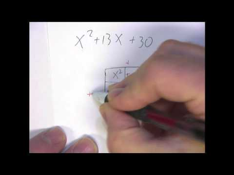 Factoring By The Box Method Example 6