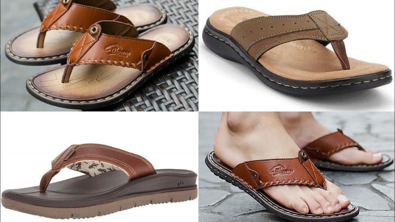 Attractive Leather Slipper Design For