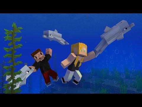 NURKUJEMY Z DELFINAMI - Minecraft SURVI 1.13 | AGU i ZIO