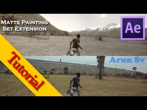 Matte painting Set Extension After Effects Tutorial | Arun Sv
