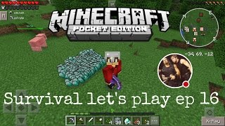 Minecraft pe survival let's play ep 16 the worlderness awaits 😃 part 1