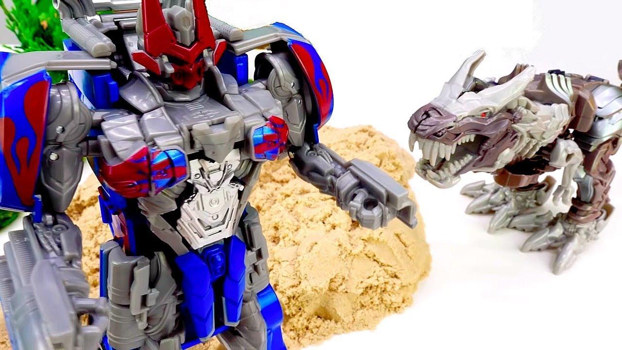 Трансформеры - Оптимус нашёл робота Динозавра! - Игры для ...