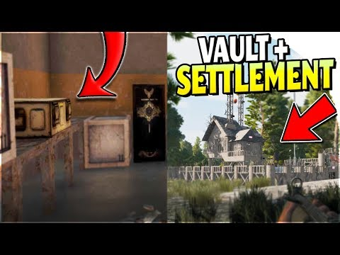 BUNKER VAULT (TONS of LOOT) + SETTLEMENT TRADING - 7 Days to Die Alpha 17 Gameplay Part 15