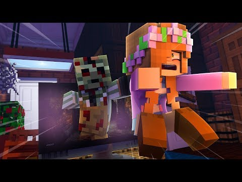 TRAPPED IN A SCARY MOVIE | Minecraft Little Kelly
