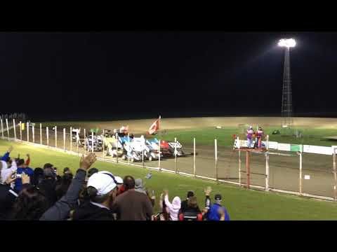 May, 31 2014 Devils Lake Speedway NOSA 4-wide and Flip