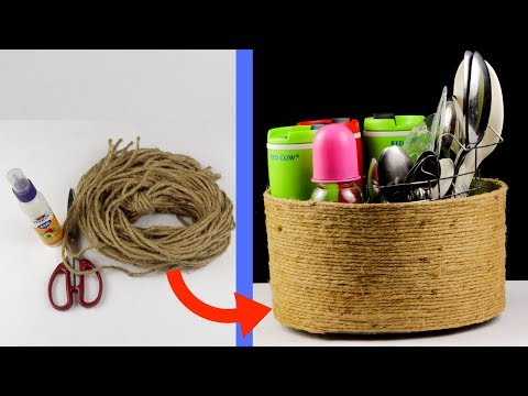 How to Make Rope Basket at Home | DIY Basket idea | Best Out Of Waste