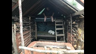 New bunkbeds building and shelter update 2 nights camping