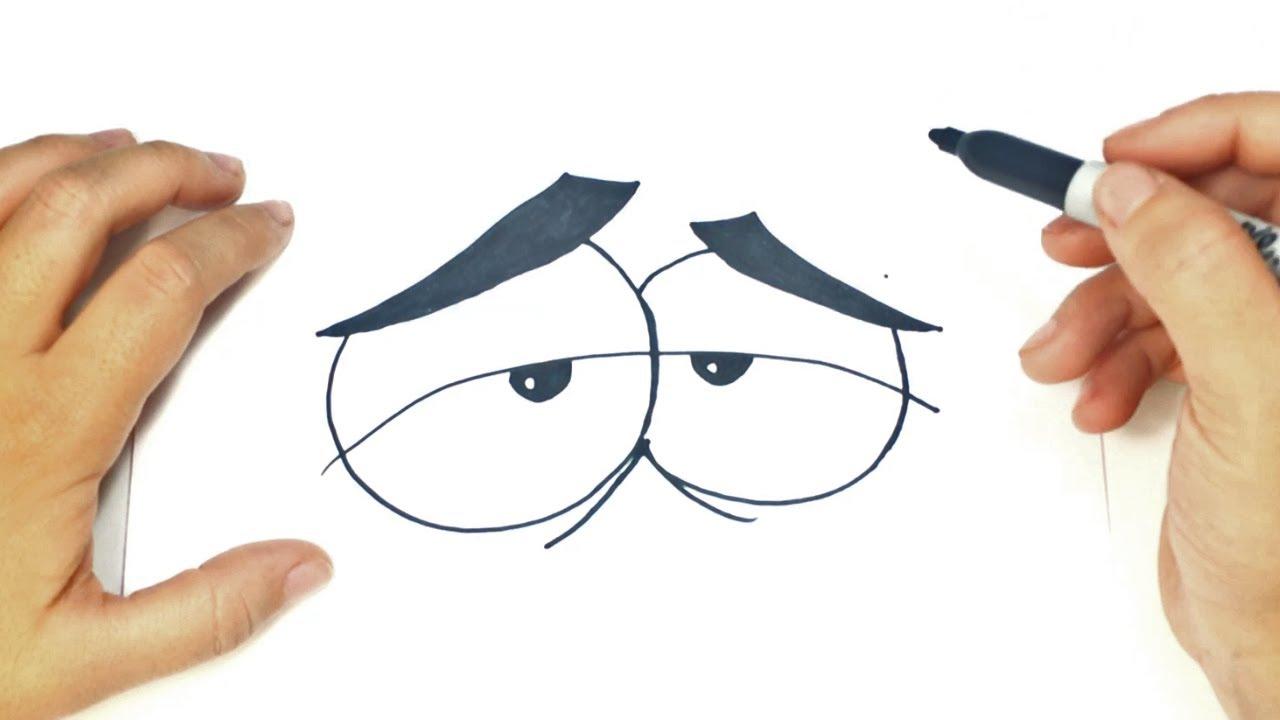 How To Draw A Cartoon Eyes Cartoon Eyes Easy Draw Tutorial Youtube