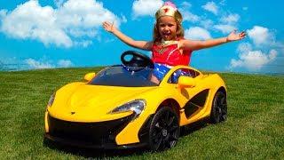 Power Wheels Подарок МАШИНА для мальчика Егорки MacLaren car и Шарики для детей Kid's video