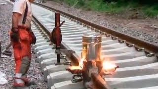 Термитная сварка рельс на железной дороге(, 2014-03-25T09:28:13.000Z)
