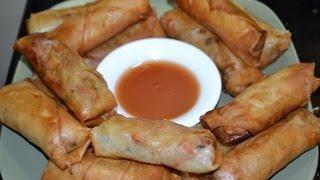 Rollos de primavera/ comida china