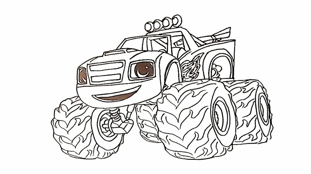 Blaze The Monster Machines Drawing Blaze Drawings For Kids Youtube