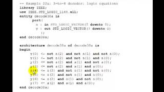 lesson 39 vhdl example 22 3 to 8 decoder using logic equations