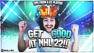 HOW TO GET GΟOD AT NHL 22 HUT TIPS FROM A D1 PLAYER! Ep. 1