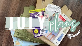 July Sewing Plans  |  What I'll be Sewing this month!