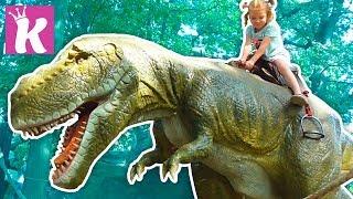 Выставка Живые динозавры -  Детские развлечения в Парке Динозавров Giant Dinosaur in Jurassic Land