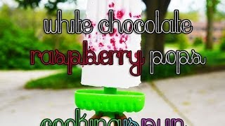 White Chocolate Raspberry Pops | Low Carb