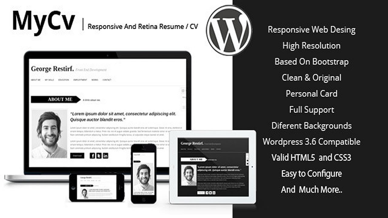 My Cv - Responsive And Retina WordPress theme / CV - YouTube