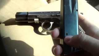 Неполная разборка пистолета CZ-75.