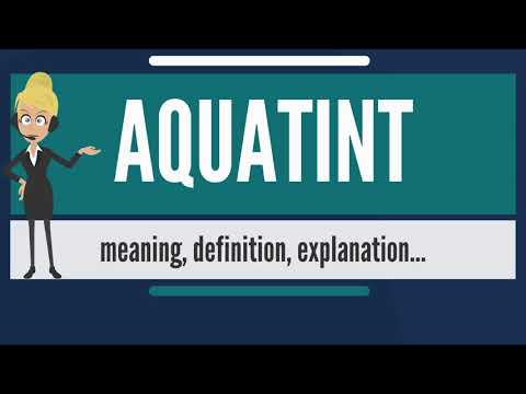 What is AQUATINT? What does AQUATINT mean? AQUATINT meaning, definition & explanation
