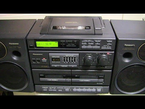 Plays CD R's Demonstrated In Panasonic RX-DT680 Ebay Listing 302886259658