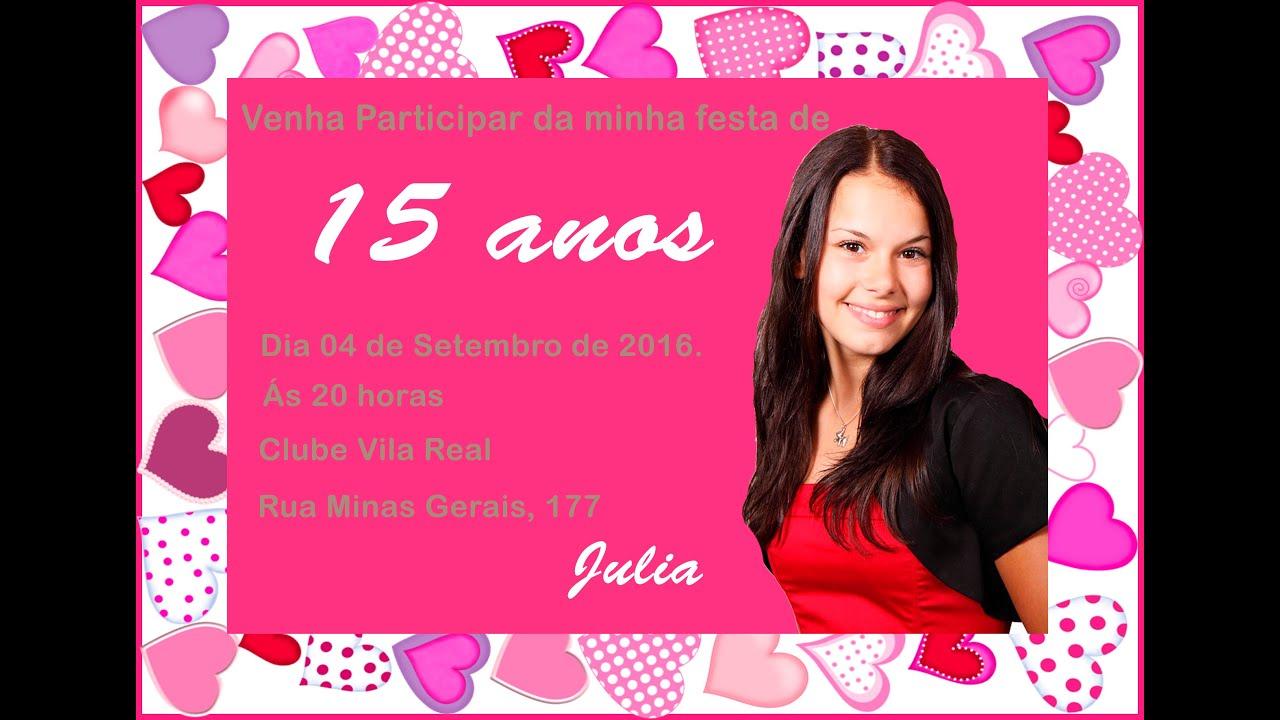 Convite De Aniversario De 15 Anos