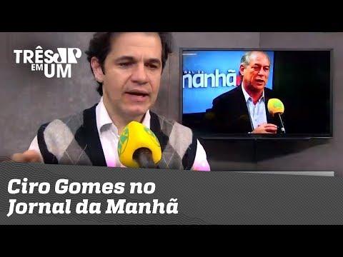 Ciro Gomes No Jornal Da Manhã