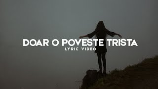 Repeat youtube video Chriss (JustUs) - Doar O Poveste Trista [Cu Versuri]