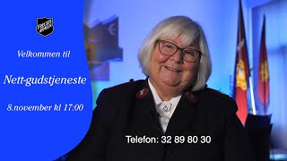 Nett-gudstjeneste fra Frelsesarmeen Drammen