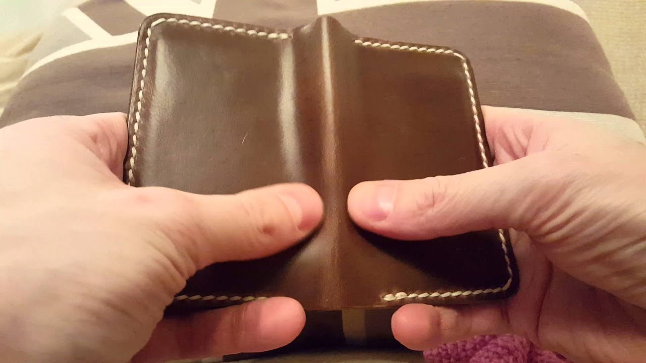 Review - Popov Leather Business Card Holder in Driftwood - YouTube