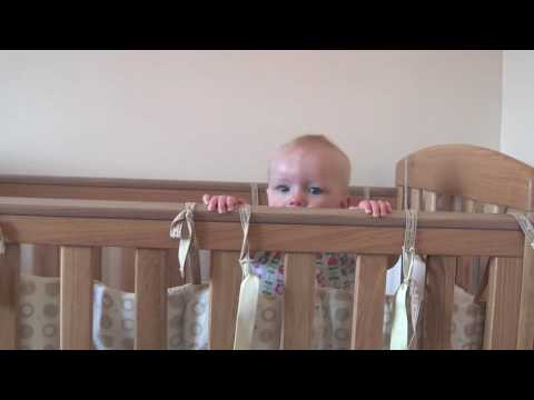 Olivia Pulling Herself Up In Cot (7 Months)